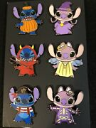 Disney Hot Topic Stitch And Angel Halloween Blind Box Pins Complete Set Of 6