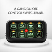 8-gang On-off Push Switch Panel Green Led Relay Wiring For Car Auto Boat Marine