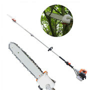 52cc 2 Stroke Gas Powered Long Reach Pole Saw Tree Trimming Pruning Delimbing