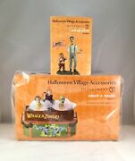 Dept 56 Lot Of 2 Animated Whack A Zombie + Creepy Carnie Halloween Accessories