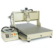 Usb 4 Axis 1500w Cnc 6090z Router Engraver Metal Wood Carving Milling Machine+rc