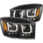 111314 Anzo Headlight Lamp Driver And Passenger Side New For Ram Truck Lh Rh 1500