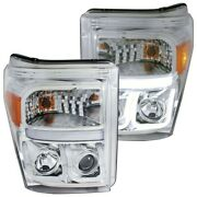 111291 Anzo Headlight Lamp Driver And Passenger Side New For F250 Truck F350 F450