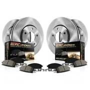 Koe2027 Powerstop 4-wheel Set Brake Disc And Pad Kits Front And Rear New For Chevy