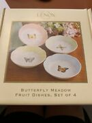 """Lenox Butterfly Meadows Fruit Dishes 5 1/4""""-set Of 4"""