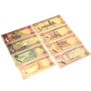 7pc Saudi Uae Currency Banknote In 24k Gold Paper Money Collection Commemo Pccl