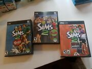 Sims 2 Collection Pc Cd Ea Games - Pets Big Box 4 Disc Open For Business Ep ++