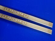 Triumph Spitfire Scuff Plates Door Sills Tread Plate Stainless Etched Inc Fixing