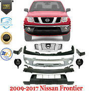 Front Bumper Chrome+ Upper Cover+lower Valance Kit For 2009-2017 Nissan Frontier