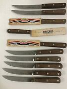 Case Xx Early Americanand039s Fixed Blade Wood Handle Utility-steak Knives Sc682-5andrdquo
