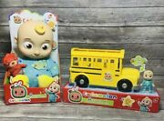 Cocomelon Jj Bedtime Doll And Cocomelon Musical School Bus Bundle Brand New Xmas