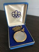 Silver Coin Necklace W/ Case 1976 Montreal Olympics 5 Canoe Gf Chain Milo Bezel