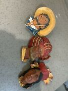 Bossons England Larger Chalkware Wall Hanging Heads