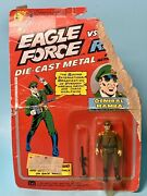 Eagle Force General Mamba And Gun Mego 1981 Die-cast 2.75andrdquo New On Damaged Card