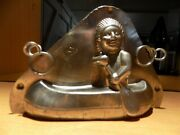 Indian With Canoe Chocolate Mold Mould Schokoladenform Molds Vintage Antique