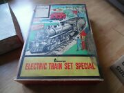 Marx Train Set Made For Penny's 490 Steam Engine With Nyc Tender And Track