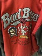 Acme Looney Tunes Space Jam 23 Bad Boys Bugs Large L Letterman Jacket Clout