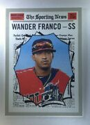 Wander Franco 2019 Topps Heritage Minor Bowling Green Hot Rods,  Tampa Bay Rays
