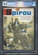 Spirou 1460 Cgc 5.5 1st Full Appearance Of Smurfette Free Priority Shipping