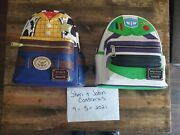 Loungefly Disney Toy Story Woody And Buzz Lightyear Mini Backpack Lot Of 2