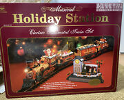 Musical Holiday Station Electric Animated Train Set New Bright No. 385