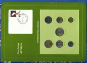 Coin Sets Of All Nations Mexico W/card 1985-1988 Unc 500 Pesos 1988 20 Pesos 85