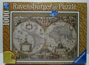 Ravensburger 2011 Antiques World Map 1000 Pieces New/sealed