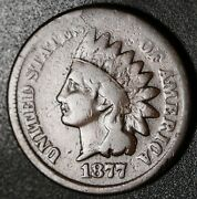 1877 Indian Head Cent - Vg Very Good Key To The Set