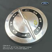 1964 Ford Dog Dish 10.5 Stainless Hubcap C4az-1130-a Galaxie Mustang F100 2