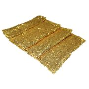 Rectangle Glitter Sequin Table Runners Cloth Rose Gold Wedding Xmas Party Decoy8