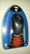 Ge Usb Dual Scroll Ergonomic Optical Wired Mouse Ho97769 Factory Sealed
