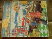 Mj5 Vintage 12 Piece Wooden Jigsaw Rare All Your Rations Here Puzzle Circa 1940s