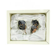 Baby's First Tooth And First Curl Silver Plated Heart Keepsake Boxes