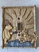 """Disney Classic Pooh """"with Candle"""" Ceramic Light Switch Plate Cover Charpente"""
