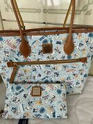 Disney Dooney And Bourke Aulani Nwt Mickey And Friends Tote And Wallet