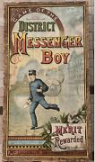 Antique Game Of The District Messenger Boy Mcloughlin Brothers 1886 Rare Nyc
