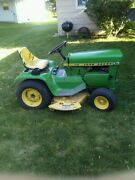1972 John Deere 110 Riding Lawn Mower With Snow Blower Included