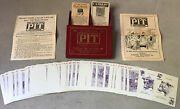 Vintage Pit Bull And Bear Edition Parker Brothers 1919 Card Game Complete Mint