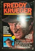Freddy Krueger Makeup And Hat Vinyage 1988 Collectible Cosplay Fancy Dress