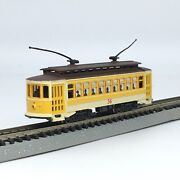 Bachmann 61098 N Scale Yellow Brill Trolley Cable Car 36 New Trucks Video Demo