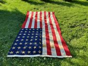 Wwii 48 Gold Stars Burial Coffin Flag Sewn Large 107 X 52 Cotton Make Offer