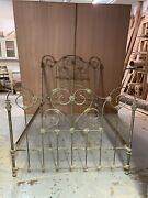 Victorian Full Size Iron And Brass Detail Bed Frame