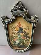 Super Rare42 High X 25 Wide Large Ethan Allen Country French Shield Art