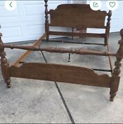 Ethan Allen Heirloom Maple Cannonball Bed 10-5621