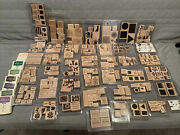 Huge Lot Of 280+ Stampin' Up Wood Rubber Stamps Holidays Art
