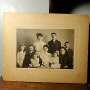 Antique Cabinet Card Photo Portrait Of Family In Edwardian Attire 1901-1910