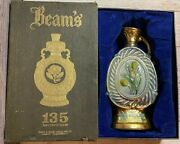 Vintage James B. Beam Distilling Co. Beam's 135 Months Decanter Floral With Box