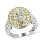 10k Gold Yellow Diamond Engagement Ring Jewelry Size 7 Ct 1.8 H Color I3