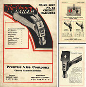 Prentiss Vise Co. - Catalog Of Cheney Hammers No. 23 - 12 Pages - Ca. 1936