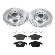 2-wheel Set Brake Disc And Pad Kits Front Driver And Passenger Side New For Vw